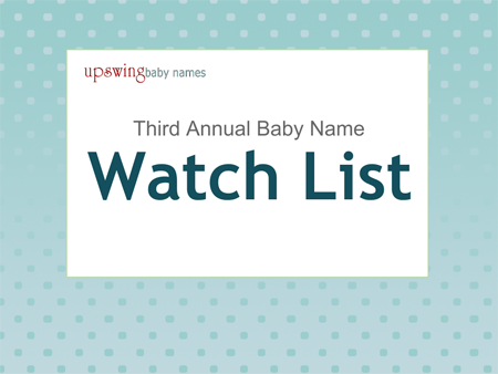 Upswing Baby Names Watch List 2013